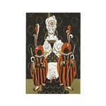 Vintage Queen of Hearts Rectangle Magnet (100 pack
