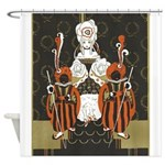 Vintage Queen of Hearts Shower Curtain