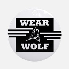 WEARWOLF CLOTHING LOGO Ornament (Round)