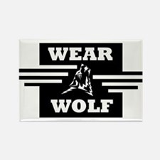 WEARWOLF CLOTHING LOGO Rectangle Magnet