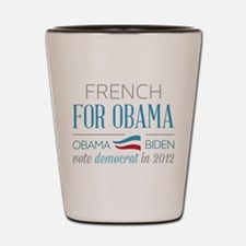 French For Obama Shot Glass