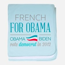 French For Obama baby blanket