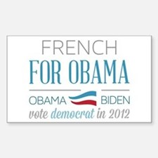 French For Obama Sticker (Rectangle)