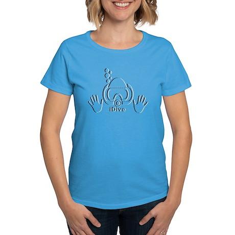 iDive BW Fray Women's Dark T-Shirt