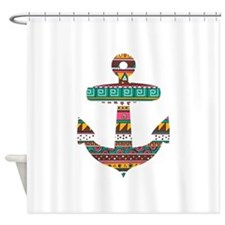 Colorful Tribal Anchor Shower Curtain