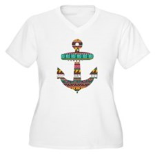 Colorful Tribal Anchor T-Shirt