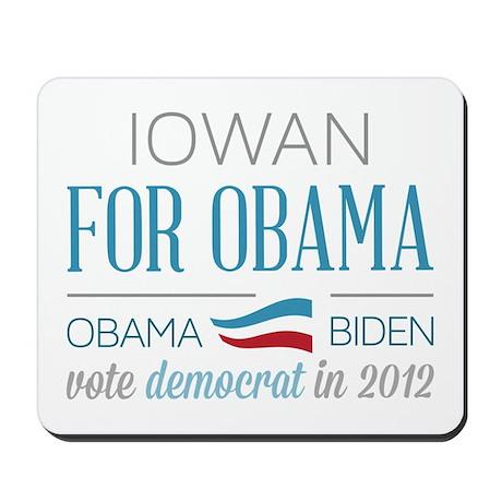Iowan For Obama Mousepad