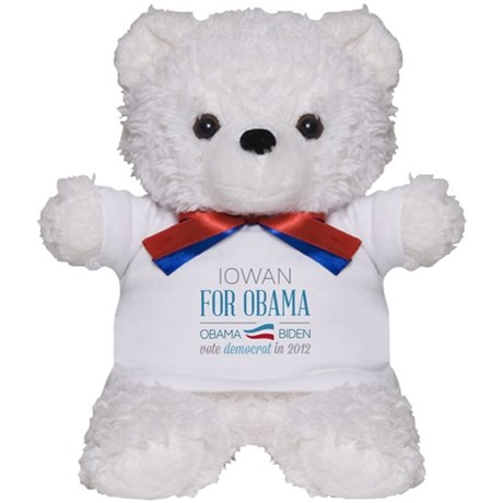 Iowan For Obama Teddy Bear