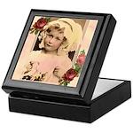 Vintage Girl with Flowers Keepsake Keepsake Box