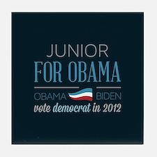 Junior For Obama Tile Coaster