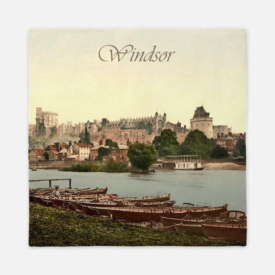 Vintage Windsor Castle Queen Duvet