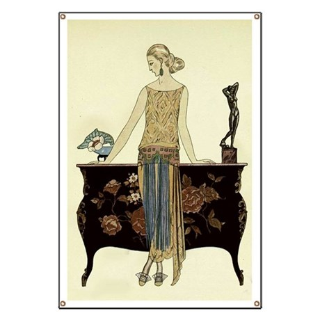 Vintage 1920s Woman Banner