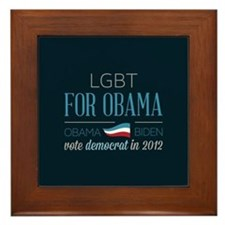 LGBT For Obama Framed Tile