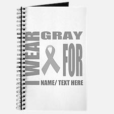 Gray Awareness Ribbon Customized Journal