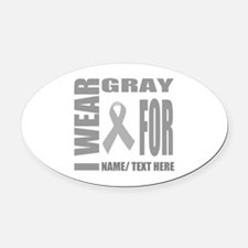 Brain Cancer Car Magnets Personalized Brain Cancer Magnetic Signs - Custom awareness car magnet