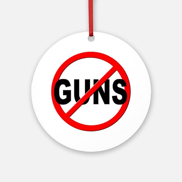 Anti / No Guns Ornament (Round)