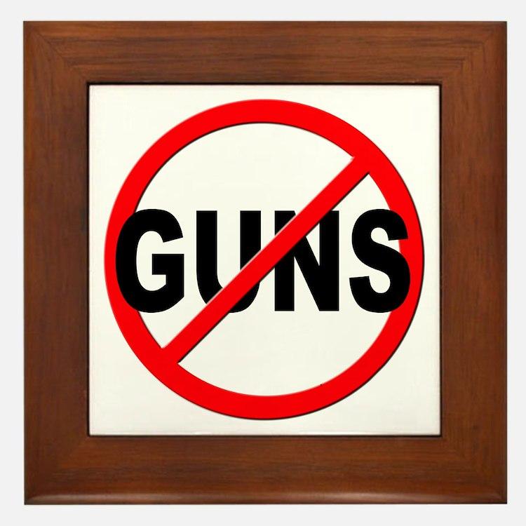 Anti / No Guns Framed Tile