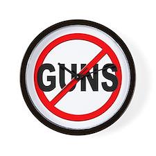 Anti / No Guns Wall Clock