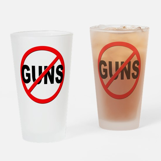 Anti / No Guns Drinking Glass