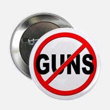 "Anti / No Guns 2.25"" Button (100 pack)"