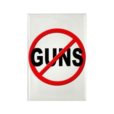 Anti / No Guns Rectangle Magnet