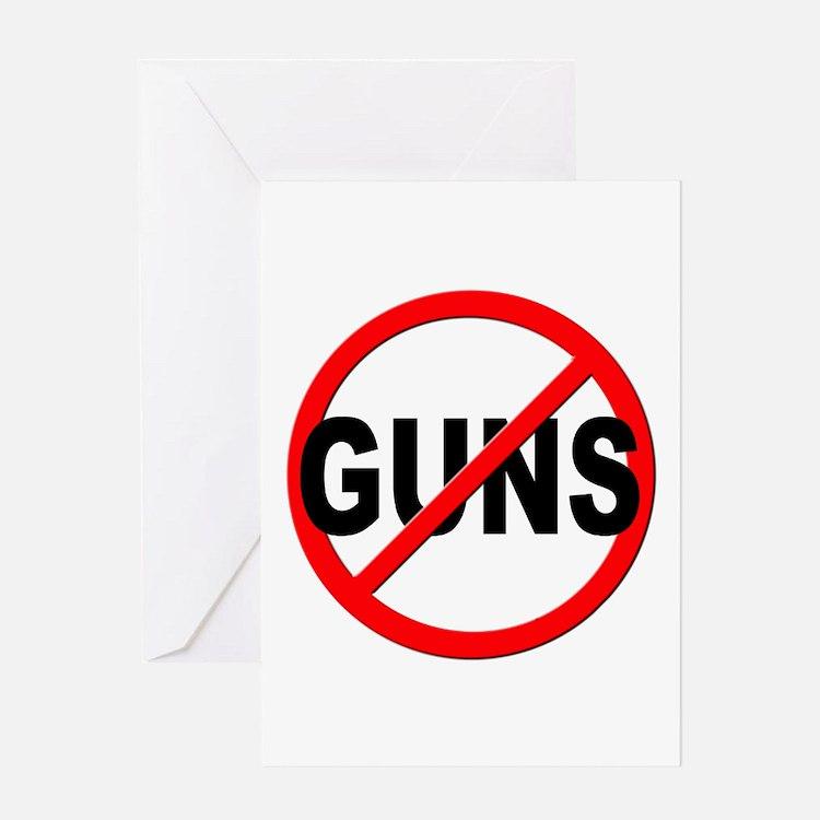 Anti / No Guns Greeting Card