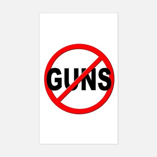 Anti / No Guns Sticker (Rectangle)