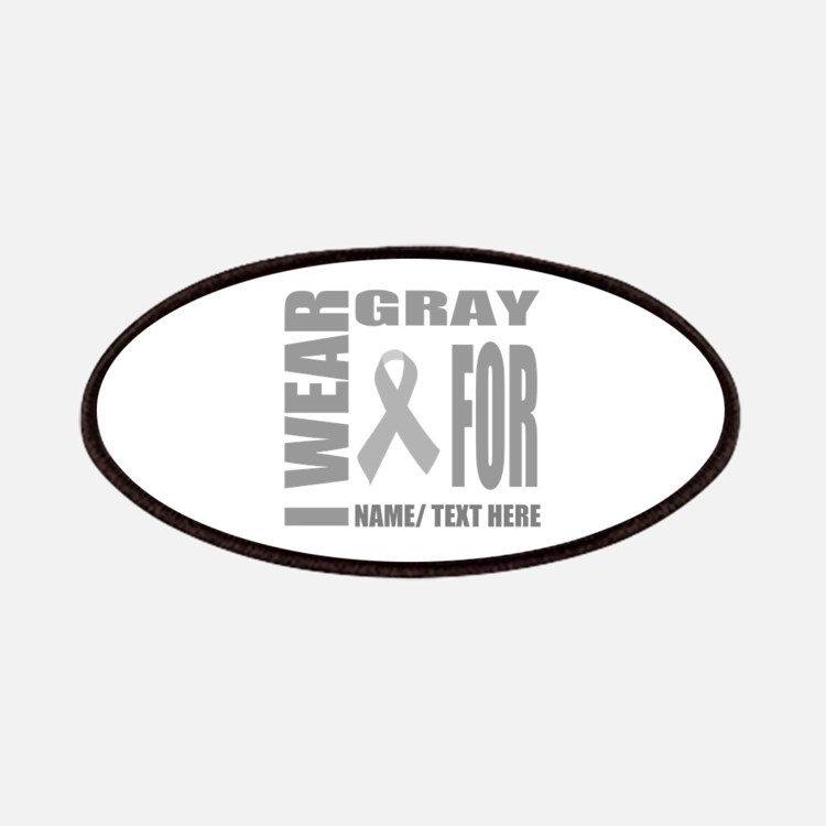 Gray Awareness Ribbon Customized Patch