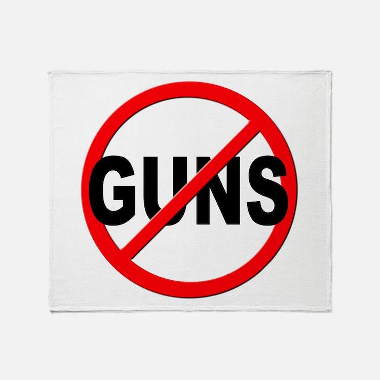 Anti / No Guns Throw Blanket