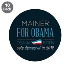 "Mainer For Obama 3.5"" Button (10 pack)"
