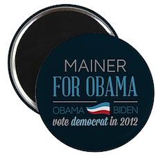 Mainer For Obama Magnet