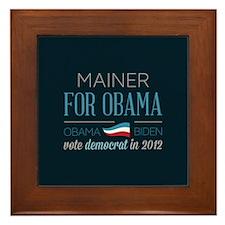 Mainer For Obama Framed Tile