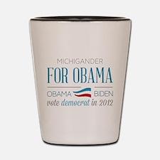 Michigander For Obama Shot Glass