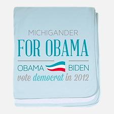 Michigander For Obama baby blanket
