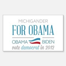 Michigander For Obama Decal