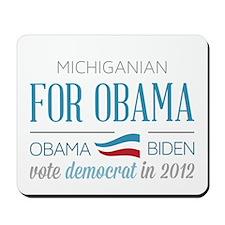 Michiganian For Obama Mousepad