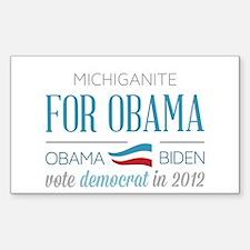 Michiganite For Obama Stickers
