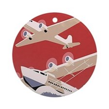 Seaplane Ornament (Round)