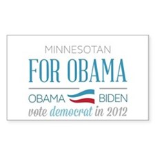 Minnesotan For Obama Stickers