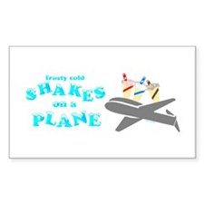 Shakes on a Plane Rectangle Decal