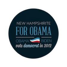 """New Hampshirite For Obama 3.5"""" Button"""