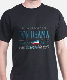 New Jerseyan For Obama T-Shirt