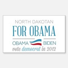 North Dakotan For Obama Stickers