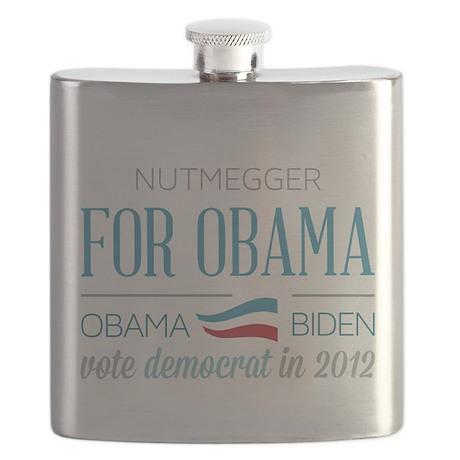 Nutmegger For Obama Flask