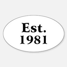 Est. 1981 Oval Decal