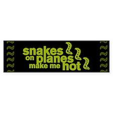 Snakes Make Me Hot Bumper Bumper Sticker
