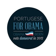 """Portugese For Obama 3.5"""" Button (100 pack)"""