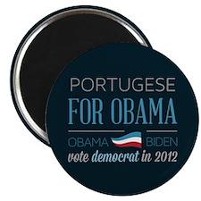 """Portugese For Obama 2.25"""" Magnet (10 pack)"""