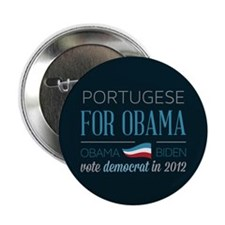 """Portugese For Obama 2.25"""" Button"""