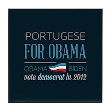 Portugese For Obama Tile Coaster